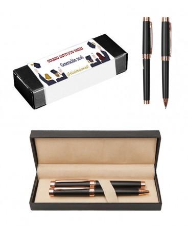 Set de bolígrafo y Rollerball regalo de graduacion