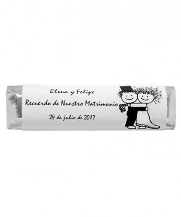 Chocolates etiquetas personalizadas de Matrimonio