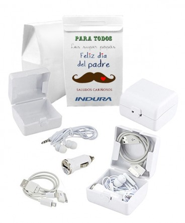 Kit de carga y audio regalo día del padre