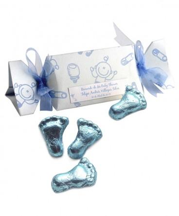 Caja dulce bebes con chocolates artesanales de Bautizo