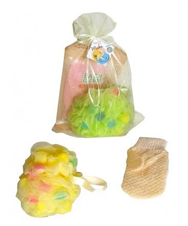 Guante y esponja exfoliantes regalo día de la madre