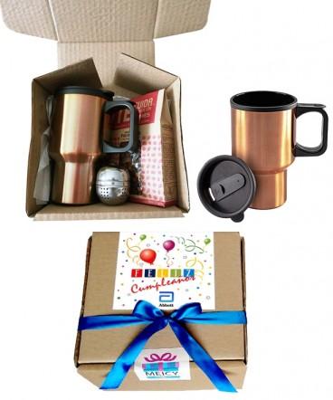 Mug con Set de infusión regalo de cumpleaños