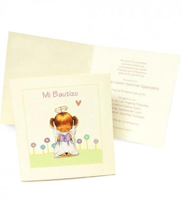 Santo, tarjeta o invitación de Bautizo