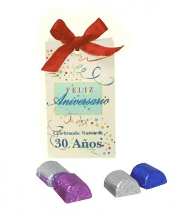 Bolso cinta con bombones regalo aniversario laboral