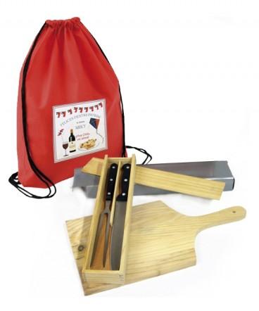 Set parrillero y Tabla madera regalo de Fiestas Patrias