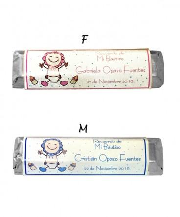 Chocolate personalizado recuerdo de bautizo