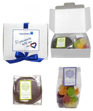 Caja alfajor con bolsa gomitas para compartir