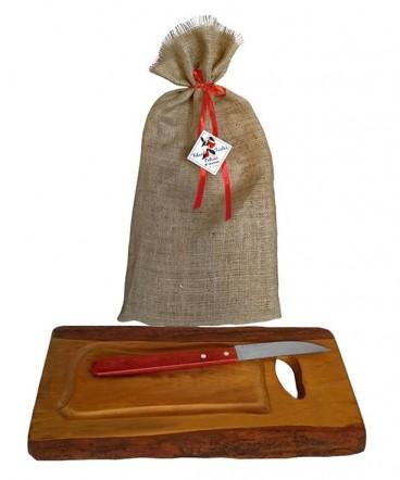 Tabla rustica con cuchillo regalo fiestas patrias