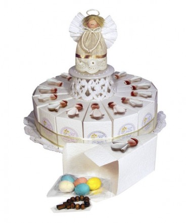 Torta 15 porciones ángel recuerdo de Bautizo