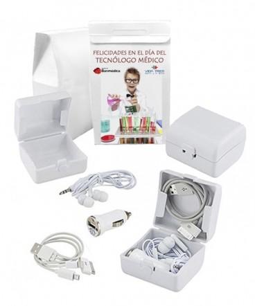 Kit de Carga y Audio regalo Dia del Tecnólogo