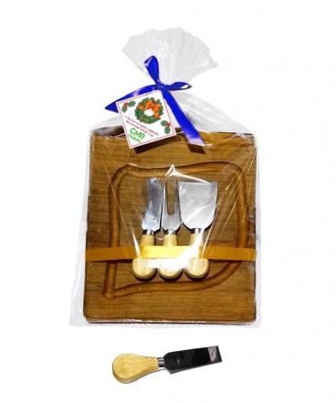 Tabla rustica de quesos regalo de navidad